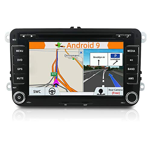 Navigatieapparaat/DVD-speler met camera + Canbus 17,8 cm 2 DIN Android 6,0 Quad Core, touchscreen, ondersteunt Mirrorlinks/OBD2/ Subwoofer/RDS/Bluetooth