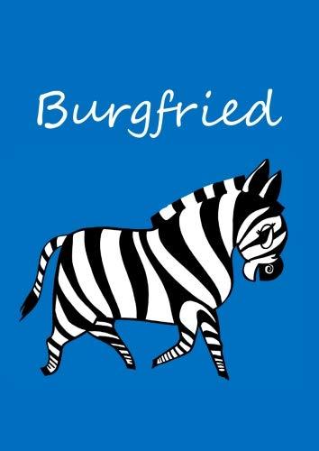 Burgfried: individualisiertes Malbuch / Notizbuch / Tagebuch - Zebra - A4 - blanko