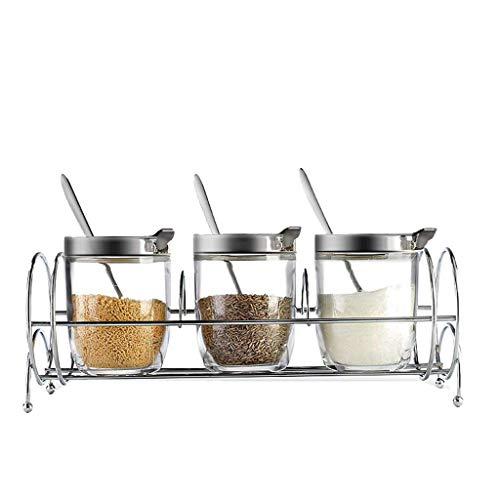 Manyao di alta qualità Spice Box Set domestica Stagionatura Glass Jar Jar condimento Saliera bagagli Bottiglia accessori for la stagionatura condimento Box Box da cucina