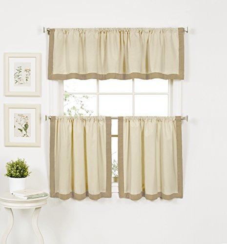 "Elrene Home Fashions 26865775150 Window Tier, 30"" W x 36"" L (Set of 2, Linen"
