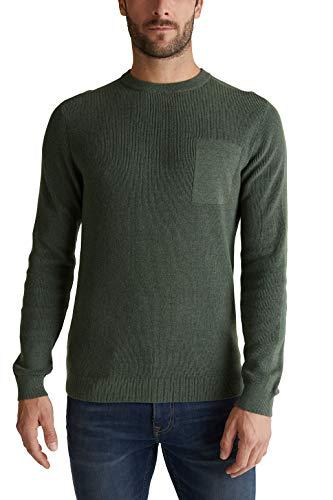 ESPRIT Herren 080EE2I301 Pullover, 349/LIGHT Khaki 5, M