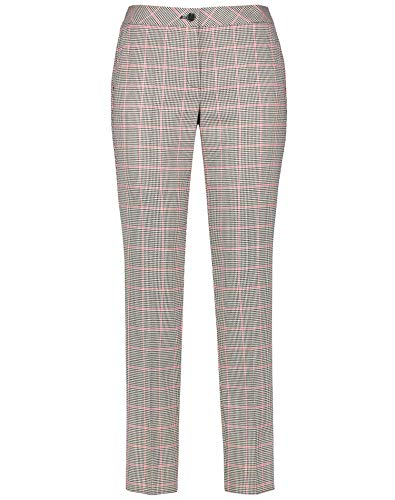 Gerry Weber - Pantalones de corte ajustado para mujer Negro / crema / avellana 48