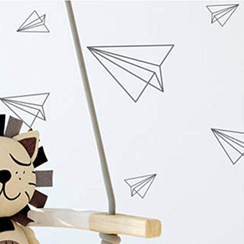 Calcomanías De Pared De Avión De Papel Origami Adhesivos De Pared Para Habitación De Niños Habitación De Niños Decoración Del Hogar Arte De La Pared Mural46 Calcomanías