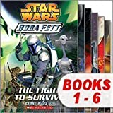 Star Wars Boba Fett Set (6 Books) (Star Wars Boba Fett, #1 The Fight to Survive; #2 Crossfire; #3 Maze of Deception; #4 Hunted; #5 A New Threat; #6 Pursuit)