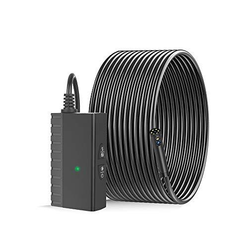 Bedler Industrielle Endoskop-Schlangenkamera 8,0 mm Doppelobjektiv-Endoskopkamera HD-Endoskopkamera wasserdichte Inspektionskameras mit 6 einstellbaren LED-Lichtern