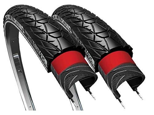 CST 2 x Reifen 28 37-622 28x1 3/8 x1 5/8 mm Sensamo Allround Reflektorstreifen Schwarz + SV Fahrrad Reifen (Ohne Schläuche)