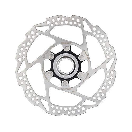 Shimano Scheibe 160 mm, C.Lock Rt54 Solo Harz, Unisex, Erwachsene, Mehrfarbig (Silber/Schwarz)