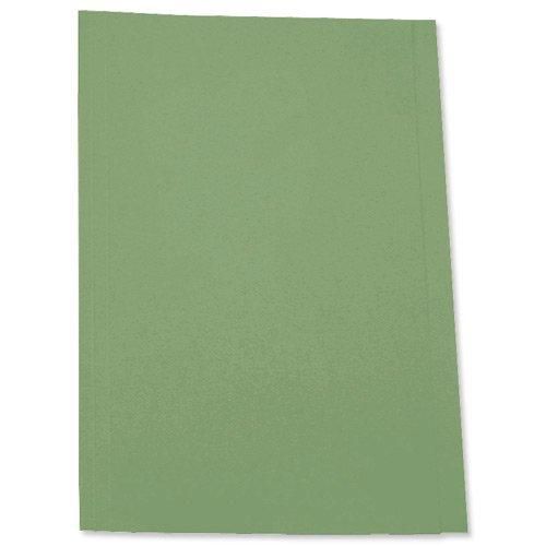 5 Star - Carpeta (tamaño folio, papel reciclado de 180 g, 100 unidades), color verde