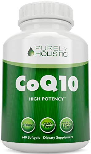 CoQ10 240 SoftGels ★ 100% Money Back Guarantee ★ High Absorption Coenzyme Q10 ★ Made in The USA to GMP Standards ★ Up to 8 Month