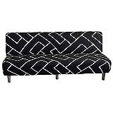 Futon Cover Sofa Sofa Slofcover Stretch Spandex Tela Lavable Tapa de deslizamiento Protector de muebles