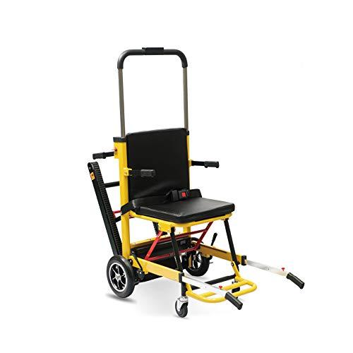 MJ-Brand Silla de Ruedas eléctrica para Subir escaleras Medical Ascensor Escalera Silla de evacuación Plegable, Puede ser como Dispositivos de elevación Camilla Ayuda de Movilidad para Ancianos