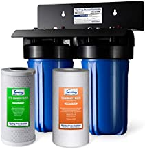 iSpring WGB21B 2-Stage Whole House Water Filtration System with 10