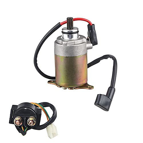 WATERWICH Starter with Solenoid Relay for GY6 Engine 150cc 200cc 250cc 4-Stroke ATV Dirt Bikes Scooters Go Kart Compatible with Baja Wilderness Tao Tao Coolster Jonway Roketa