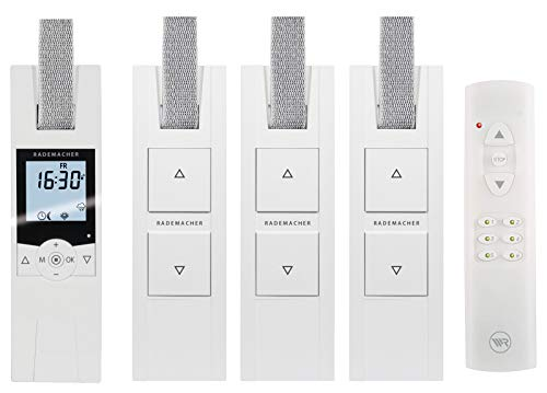 RADEMACHER elektrische Gurtwickler Starterset für 4 Rolläden. Smarte Rolladensteuerung mit Rolladen Gurtwickler (230V) und Handsender.