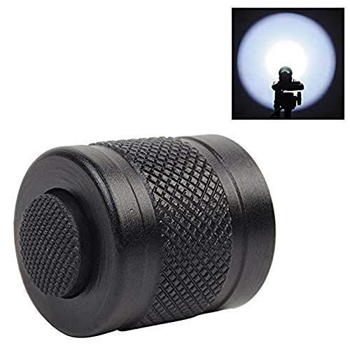 Interrupteur de Capuchon pour Lampe de Poche, 6P 9P G2 P2X P2ZX P3X Z2 Z2X Dragonne Accessoire Bouton de Pression Extérieur Bouton-Poussoir Durable en Aluminium Tactique Réglable pour Mag-Lampe Torche