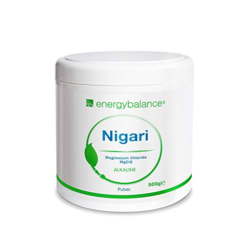 EnergyBalance Nigari Magnesiumchlorid - Salz für Tofu, Pulver aus Rohsole - Vegan, Glutenfrei, Laktosefrei, ohne Zusätze - Qualität aus der Schweiz - 500 g