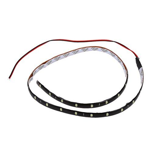 Gesh Tira de coche flexible de 60 cm, 30 SMD, para debajo de la luz, color blanco