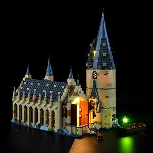 Nlne Kit De Iluminación Led para Harry Potter-Gran Comedor De Hogwarts-Compatible con Ladrillos De Construcción Lego Modelo 75954 - NO Incluido En El Modelo