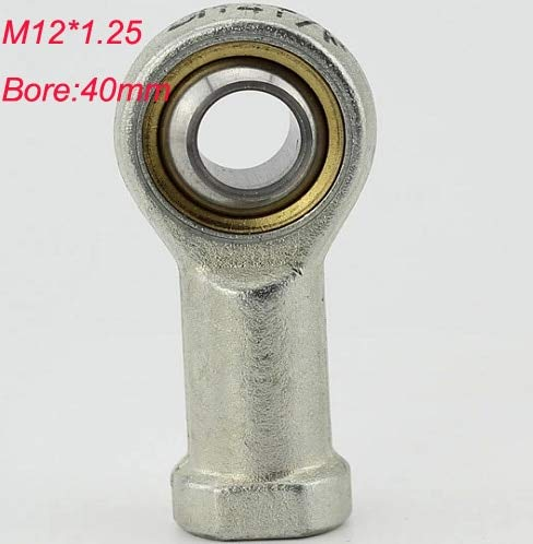 Fevas 2pcs M12 Female Threaded Rod End Joint Bearing SI12T/K PHSA12 air Cylinder Bearing for 40mm bore Sizes