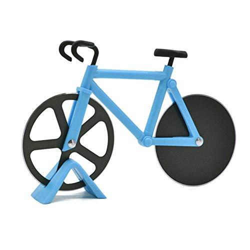 Pizzaschneider Rad Pizzaroller Rasiermesser Scharfe Antihaft-Doppelschneidräder Edelstahl Fahrrad Pizza Slicer Für Pizza Urlaub Urlaub Einweihungsparty Küchenhelfer