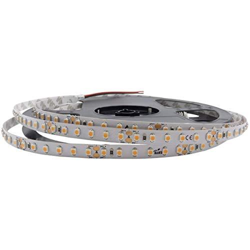iluminize LED-Streifen: sehr hochwertiger LED-Streifen mit 120 LEDs pro Meter, 8 mm breit, hoch selektiert, 24V, 9,6W pro Meter, 5 m auf Rolle (2700K Ra 80 IP33)