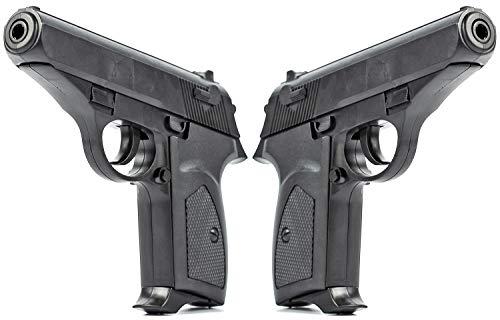 Nerd Clear Softair Pistole Doppelpack James Waffe Munition Kugeln 0,5 Joule ab 14 Jahre schwarz Zubeh