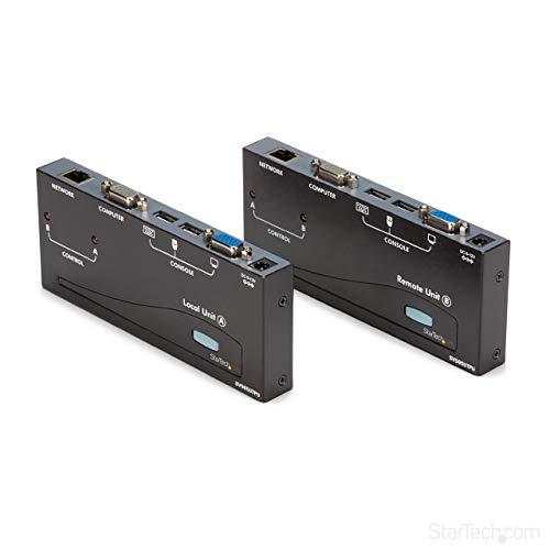StarTech.com 500ft VGA KVM Over IP Extender - PS/2 & USB Host - KVM Console Over CAT5 Ethernet for Multiple Servers/Computers (SV565UTPU)