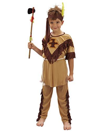 Vegaoo - Disfraz de Indio para niño - S 4-6 años (110-120 cm)