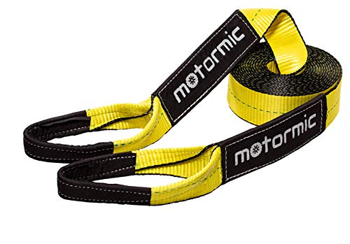 Find Bargain motormic Recovery Tow Strap 3 x 30ft - Lab Tested 31,924 lb Break Strength - Triple Re...