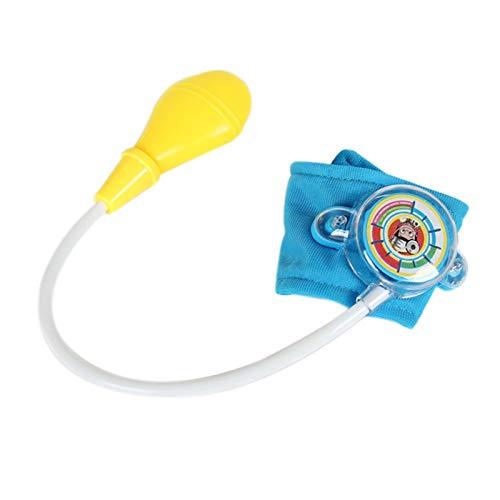 XIANLIAN Juguete para presión arterial infantil, juego de médico, 3820 cm, juguete de simulación para niños, juguete de simulación de sangre no tóxica, para niños de más de 3 años (rosa y azul)