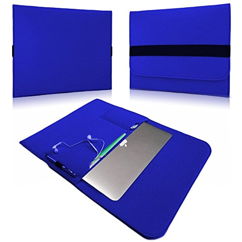 NAUC Laptop Tasche Sleeve Schutztasche Hülle Tablets MacBook Netbook Ultrabook Case kompatibel mit Samsung Apple Asus Medion Lenovo, Farben:Blau, Für Notebook:Archos 133 Oxygen