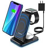 ZUBARR Station de charge sans fil pliable 3 en 1 pour Samsung S20/S10+/S10/S9/Note8/S8/S7, support...