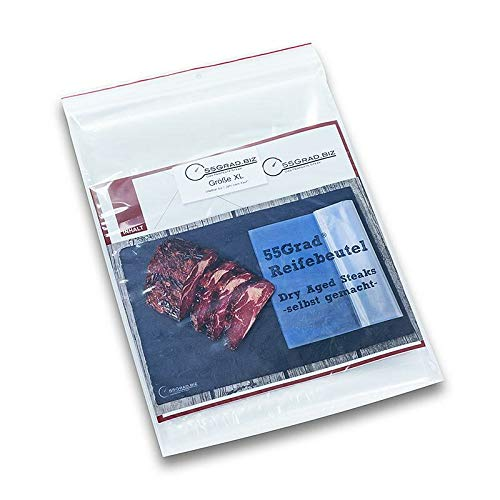 Membran-Reifebeutel Größe XL, 400x700mm, 4 Stück, für Dry Aged Beef, 55GRAD, 4 St