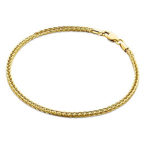 Orovi Armband - Armreif Damen Gelbgold 14 Karat / 585 Gold Kette 19.5 cm