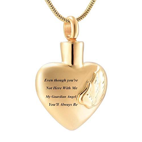 GenericBrands Joyería Conmemorativa para Mujer Collar de urna de cremación para un ser Querido Joyería de Recuerdo de Cenizas