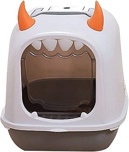 wangYUEQ Grande boîte de litière entièrement clôturée S Toilette Flip Type DE Type DE Type DE Type D'ODÉRATION ET POISION Splash Production sur Bassin Pet DE Later Pet DE Pet DE Pet