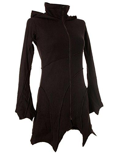 Vishes – Alternative Bekleidung – warme Elfen Zipfeljacke/Kurzmantel mit Zipfelkapuze