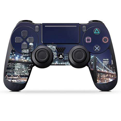 DeinDesign Skin kompatibel mit Sony Playstation 4 PS4 Pro Controller Folie Sticker USA New York Brooklyn Bridge