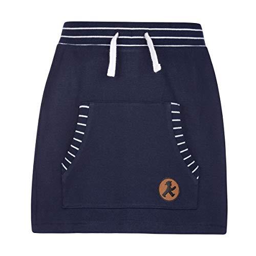 AMPELMANN Kleine Lady - Rock Kinder - für Mädchen in dunkelblau aus 100% Baumwolle mit Kängure-Taschen (140)