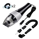 COOLWOW Handheld Vacuum Portable Auto Vacuum Car Cleaner Corded Air Compressor Pump 6000PA
