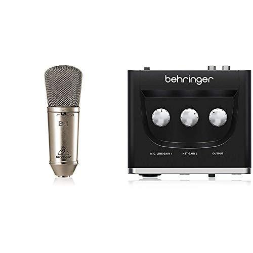 Behringer B-1 Micrófono de Condensador (diafragma) + U-PHORIA UM2 Equipos de música adicionales Negro