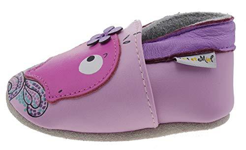 Lait et miel Whale balo1 Leder Hausschuhe pink, Groesse:18.0
