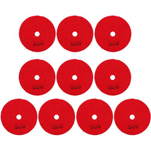 Discos de lijado, almohadilla de arena de lijado de alta calidad 500 grano diamante hecho en polvo de diamante para piedras de hormigón de mármol 500 malla (rojo)