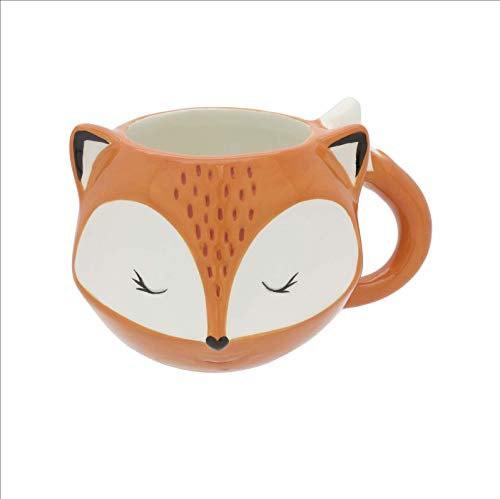 1 X Streamline Orange Fox Mug
