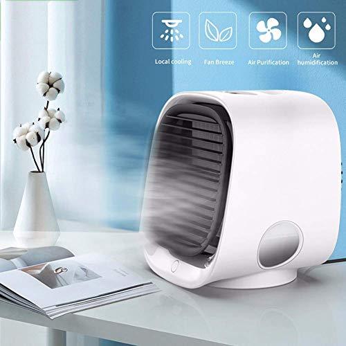 Aire acondicionado portátil Ventilador, personal del refrigerador de aire, humidificador y purificador 3-en-1, Zona de circulación de aire humidificador ventilador de la bruma, 3 velocidades del vient