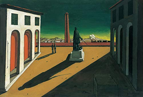 "Aenx Giorgio de Chirico The Square 30"" x 20"" Wall Art Giclee Canvas Print (Unframed)"