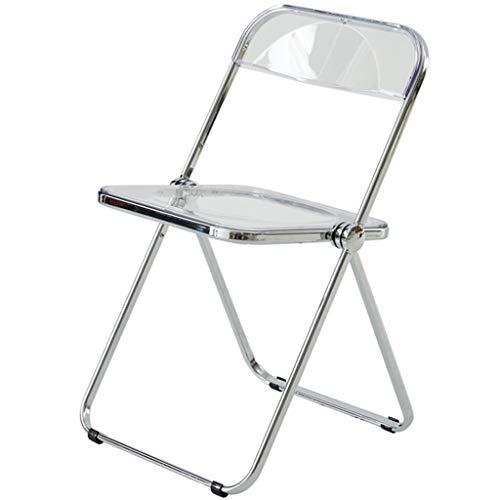 DXIUMZHP Sedie Pieghevoli Sedia Pieghevole Trasparente Moderna E Semplice, Sedia da Pranzo in Acrilico per Uso Domestico, Sedia Schienale Moda Creativa, può Sopportare 120 kg