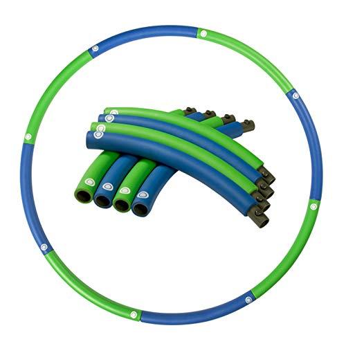 SYLTL Hula Hoop Fitness, Relleno De Espuma Hula Hoop para Pérdida De Peso para Adultos Y Niños, Desmontable Weighted Hula Hoop,Azul