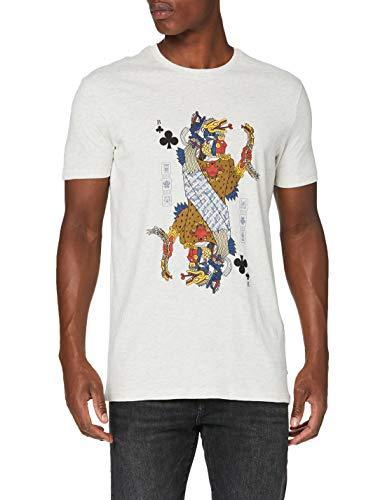 Springfield 5Ec Naipe Etnico Gris-c/41 Camiseta, Gris (Dark_Grey 41), M (Tamaño del Fabricante: M) para Hombre