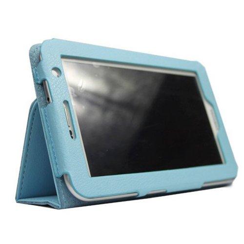 Timagebreze Caja de Cuero para 7 Pulgadas Galaxy Tab 2 P3100/P3110 Azul